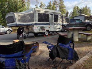 Tent Trailer Campsite